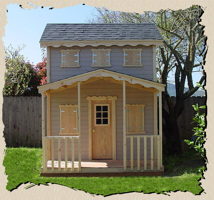 kids backyard wood playhouse the condo