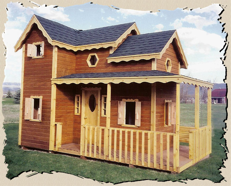 Childrens wooden playhouse plans woodplans for Blueprints for playhouse
