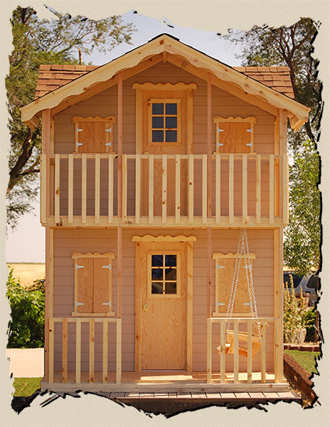 Childs outdoor playhouse plan