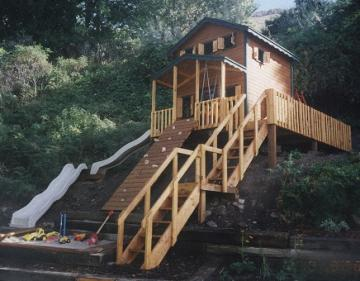 playhouse with deck
