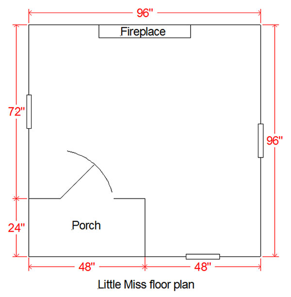 Kids playhouse floor plan for the Little Miss