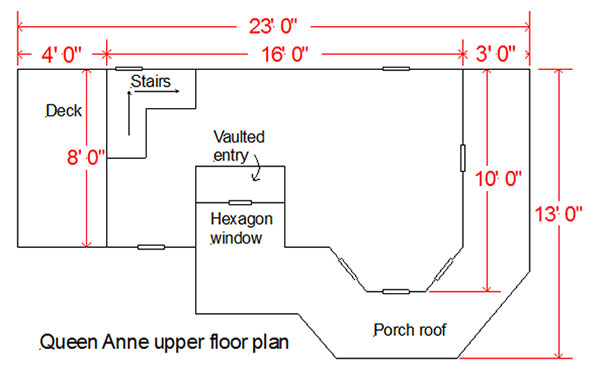 Image of upper floorplan for kids wood playhouse
