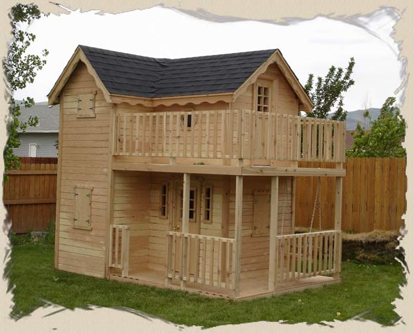 Pdf diy elevated outdoor playhouse plans download easy for Wooden playhouse designs